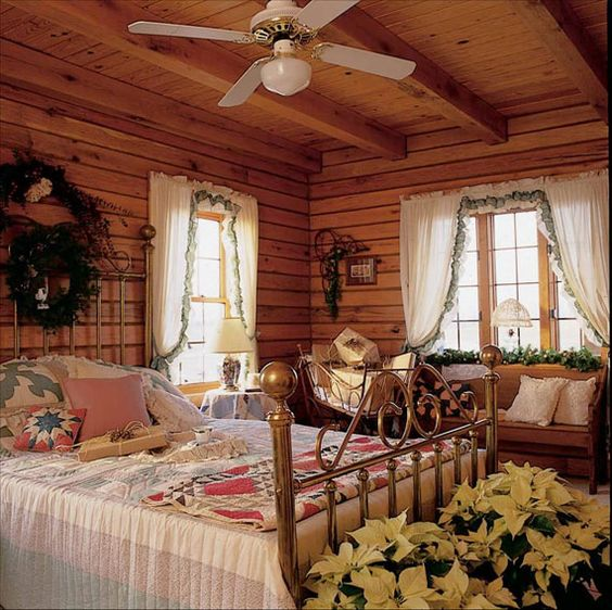 Image Detail For Beautiful Log Cabin Bedroom Sturdy Log Cabin Style Interi