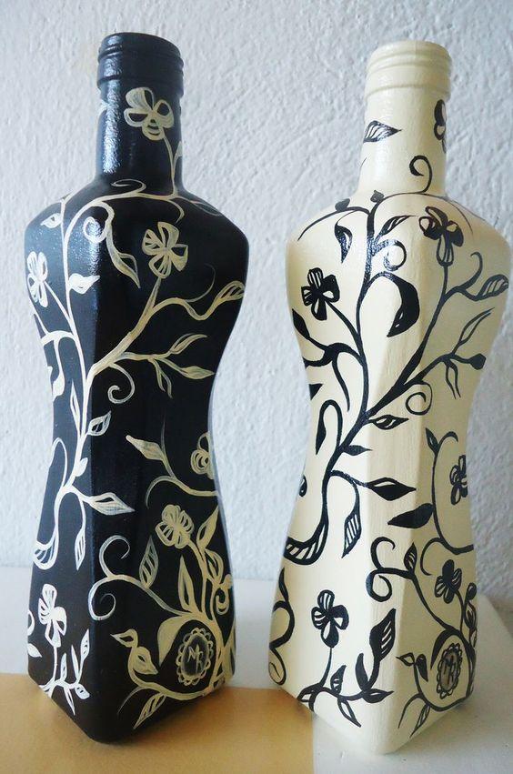Ideias do que fazer com garrafas de vidro Decore sua casa com vidros de azeite ou vinho!: