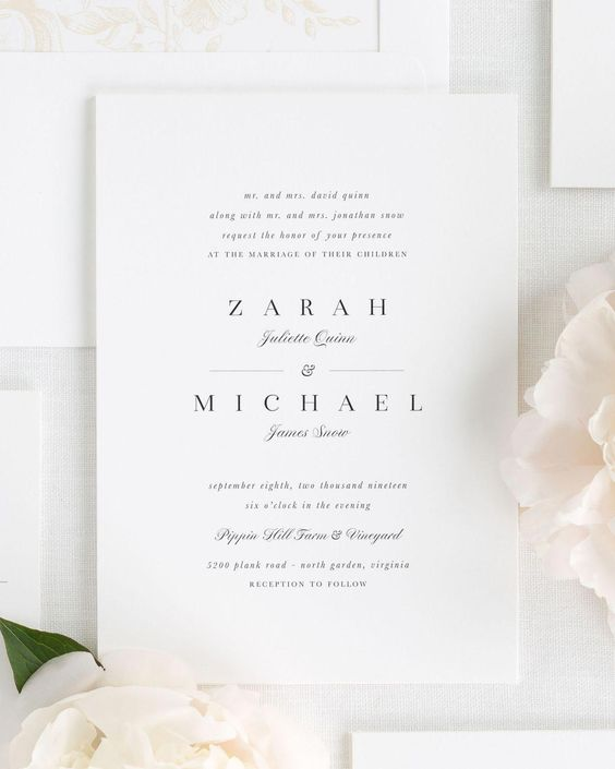 Small Non-Script Names Wedding Invitations #weddingphotos