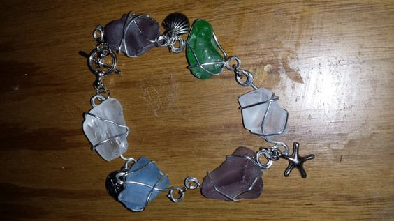 Hey, I found this really awesome Etsy listing at https://www.etsy.com/listing/196551018/wire-wrapped-seaglass-bracelet-with