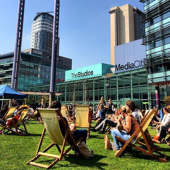 Hello Blue Sky! #MediaCityUK #SalfordQuays