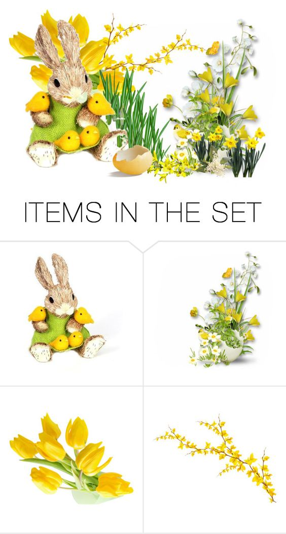 """Happy Easter!!!"" by mag1727 ❤ liked on Polyvore featuring art"