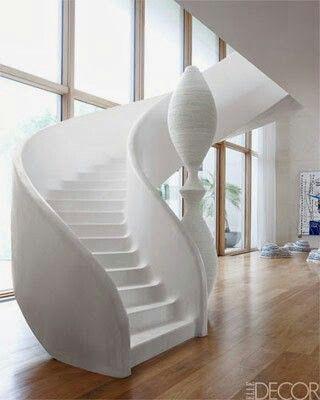 Wow! White spiral staircase