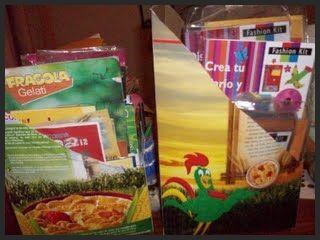 Cajas recicladas para libreros