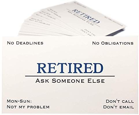 Amazon Com Thingamagift Out Of Business Cards Funny Retirement Gift For Men Women Coworke Funny Retirement Gifts Retirement Humor Retirement Gifts For Men