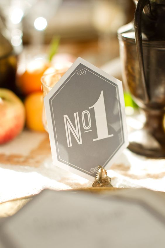 these table numbers are Number 1 in our book  Photography By / http://mikelarson.com,Paper Goods by http://www.umbrellatreedesign.com/
