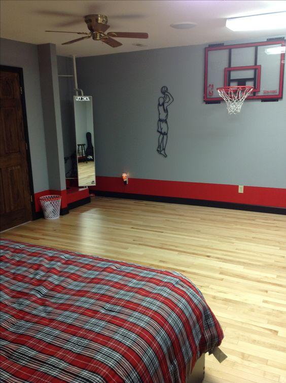 Teen Basketball Theme Room Basketball Pinterest Impresionante Habitaciones Para