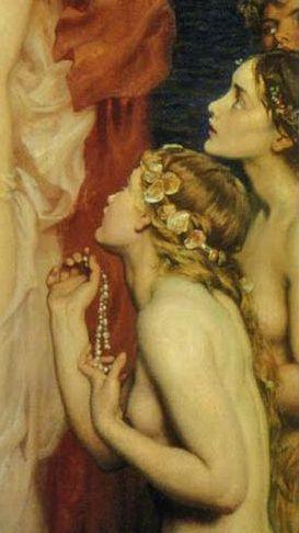 Herbert James Draper • The Pearls of Aphrodite (detail)