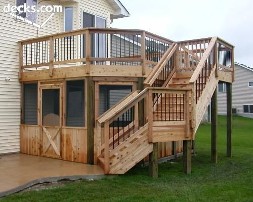 Neat idea to screen in under the deck and have a hot tub for Neat deck ideas