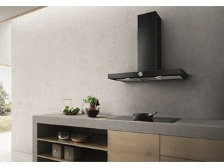 Wall-mounted stainless steel cooker hood with integrated lighting LOL - Elica