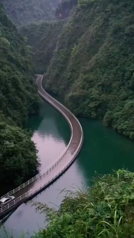Pontoon Bridge in the Hubei Province in China