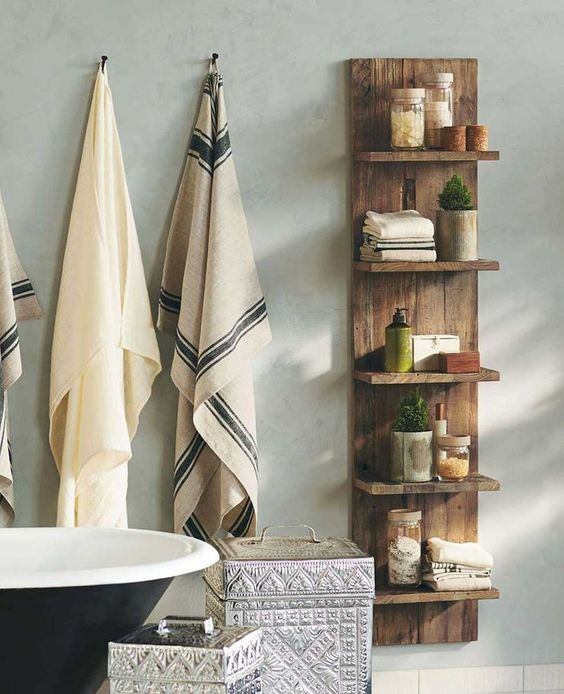 Nice 20+ Creative Rustic Storage Projects for Your Bathroom https://pinarchitecture.com/20-creative-rustic-storage-projects-for-your-bathroom/