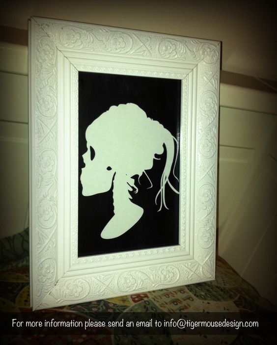 Lolita Skull Silhouette Portrait    Order Code: LSSP01    Pricing to be announced (or just email me if you would really like to order and I can try to figure something out)    Shipping available.    A different kind of artwork for your home, work or bedroom. This Lolita Skull Silhouette Portrait is made of paper and placed on a black painted background. Keep an eye out for more creative designs!