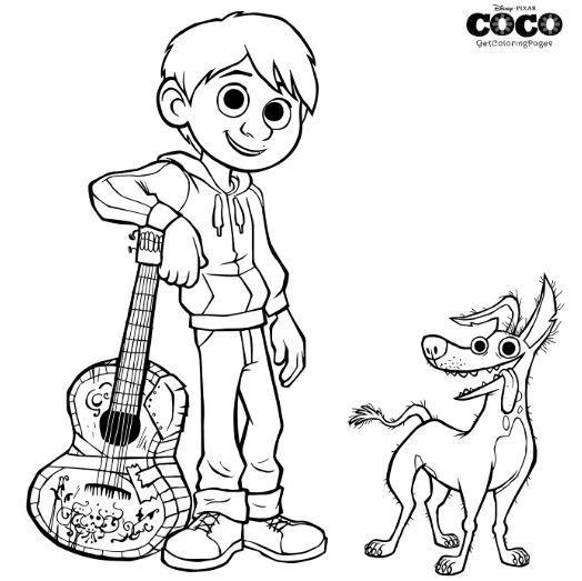 Coco Coloring Page