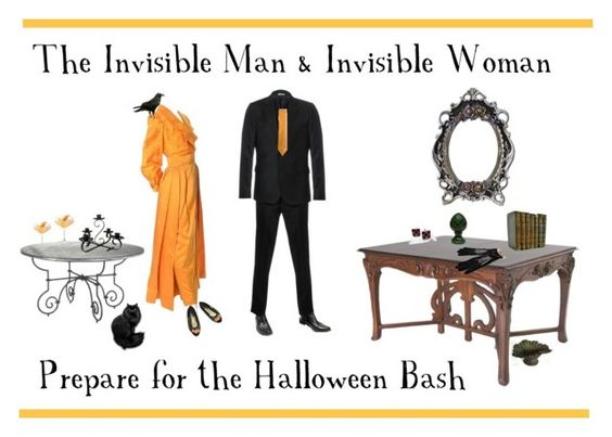 """The Invisible Man & Invisible Woman Prepare for the Halloween Bash"" by anna-ragland ❤ liked on Polyvore featuring Estevez, Paul Smith, Yohji Yamamoto, modern, vintage, vintagejewelry, vintagefashion, vintagehalloween and vintagefinds"