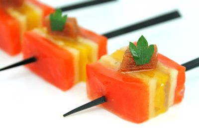 Vegetable terrine vegetarian canapes pinterest world for Canape cookbook