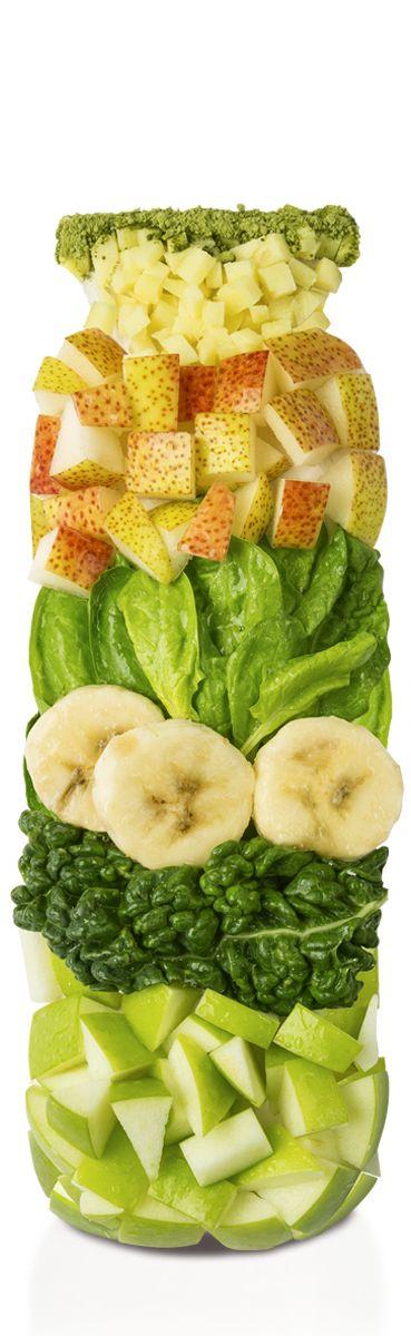 Green Smoothie (Spinat, Grünkohl + Matcha+Apfel+Birne+Ingwer) - PURE