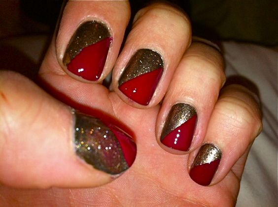 I did this with tape and a little silver sparkle polish