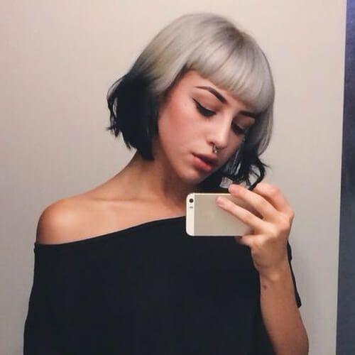 Short Reverse Ombre Hair Reverse Ombre Hair Short Ombre Hair Short Silver Hair