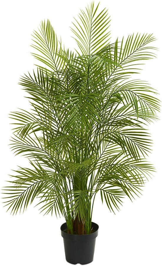 Nearly Natural 5 5 Areca Palm Artificial Tree Reviews Home Macy S Artificial Tree Artificial Indoor Trees Plants