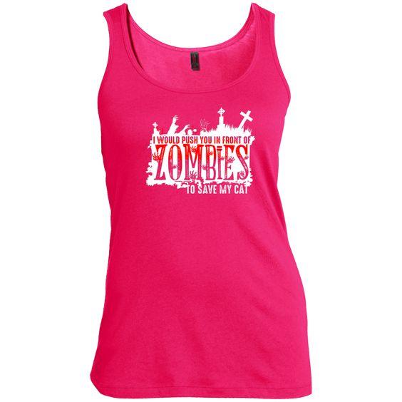 Zombies Cat - Ladies Tank
