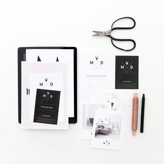 Visual identity / packaging My Deer Art Shop