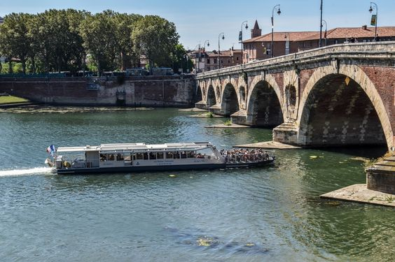 Bateau-mouche passant sous le Pont Neuf