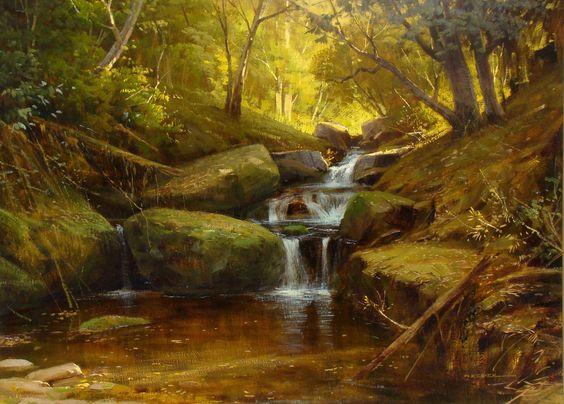 """Alexandre Reider - """"Corredeira"""", óleo s/tela, 60x80cm, 2008."""