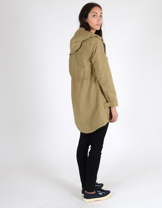 Penfield Women&39s Gibson Nylon Rain Jacket Gold Tan | iceland