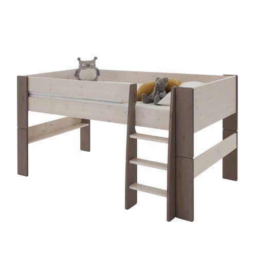 Scott Larue European Single Mid Sleeper Bed Harriet Bee Bed Frame Colour Grey In 2020 Mid Sleeper Bed Kids Mid Sleeper Beds Childrens Cabin Beds