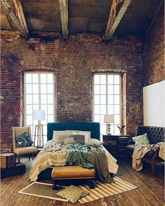 10 Industrial Interiors Bedroom Ideas Idees Loft Deco Maison