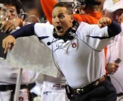 Where does he rank? Gene Chizik, Auburn. No Gus. No Cam. Can he do it?