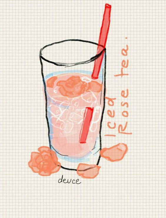 Iced Rose tea