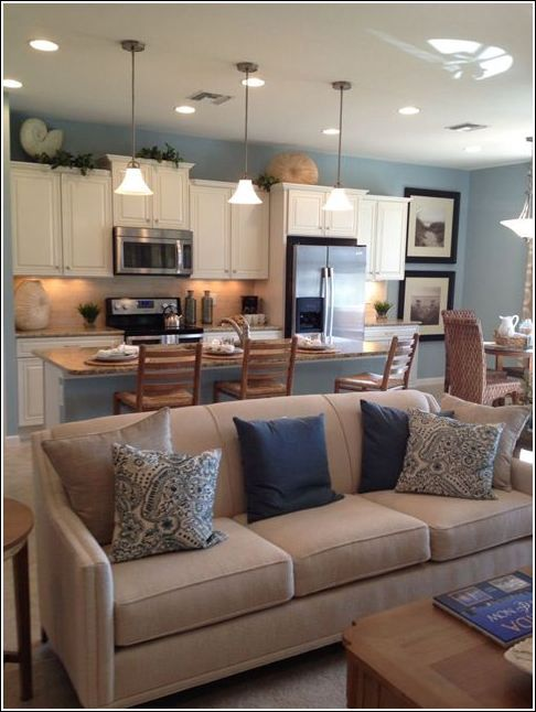 15 Paint Colors For Open Concept Living Room And Kitchen Open