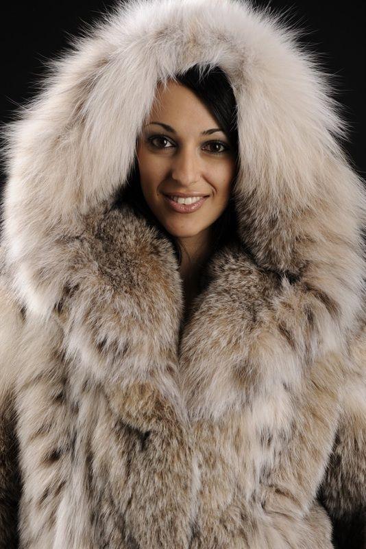 hooded lynx fur jacket | Furs & Softwear 24 | Pinterest | Jackets ...