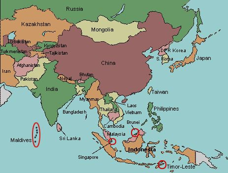 map of asia you can see a map of many places on the list on the