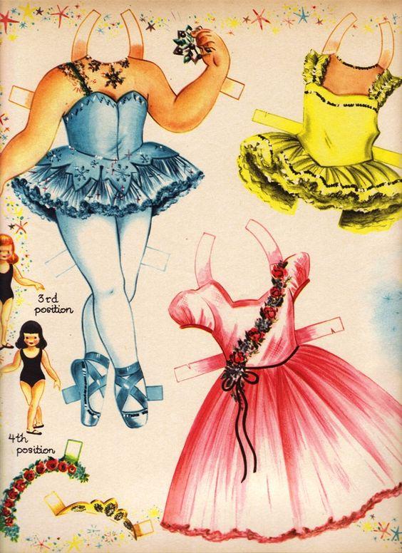 Little Ballerina Paper Dolls 1950's.