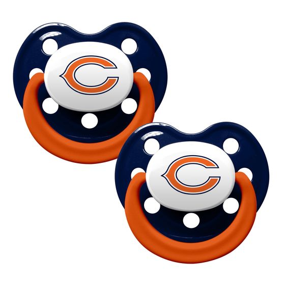 Chicago Bears Baby Pacifiers - Pack Of 2