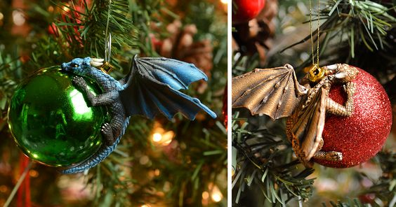 Dragons Protecting Baubles Like Their Own Eggs Is What Your Christmas Tree Needs This Year   Bored Panda