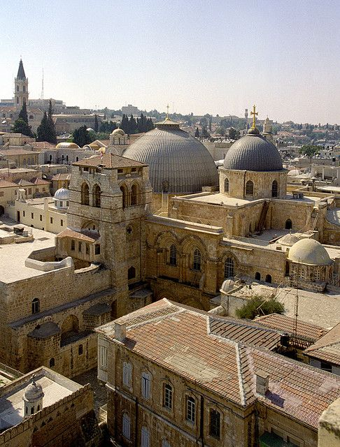 Jerusalem - With the Saint Sepulchre Church in the middle