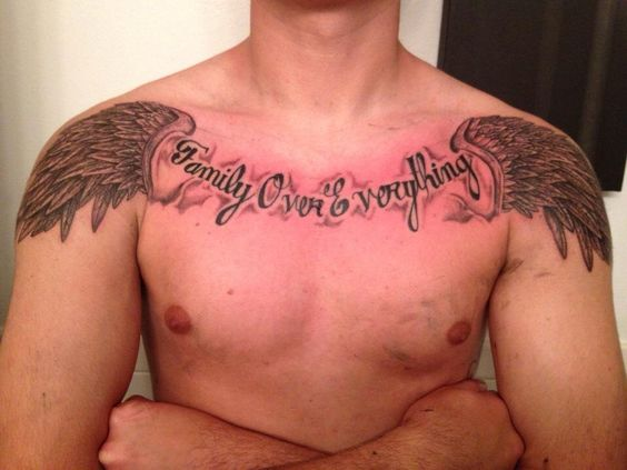 Family Over Everything Male Tattoo
