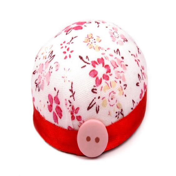 Pin Cushion - Pretty Floral Red Wrist Cushion for Pins via Prissy Craft. Click on the image to see more!