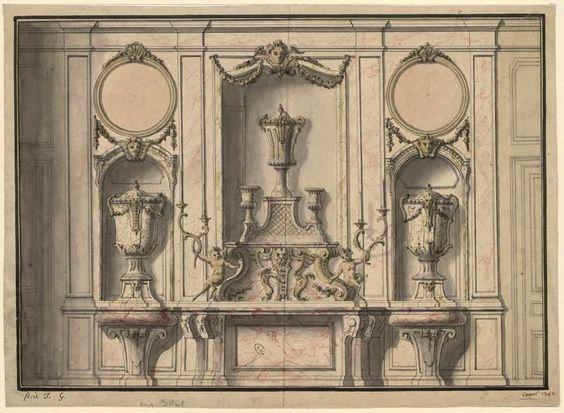 [Projet de décor d'intérieur] | Centre de documentation des musées - Les Arts Décoratifs