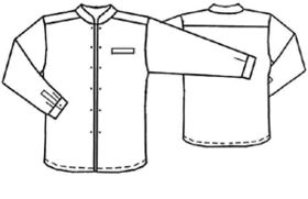 Free pattern for a man's shirt with a mandarin style collar. Good for Steampunk...