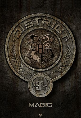 District 9 3/4: Magic! - The Hunger Games vs. Harry Potter Photo . What a cool concept or for the geek an awesome tattoo.<<< YUS IT ISS