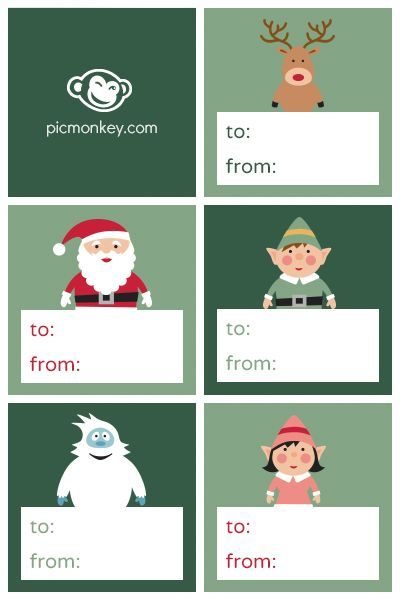The abominable snowman, Christmas gift tags and Gift tags on Pinterest