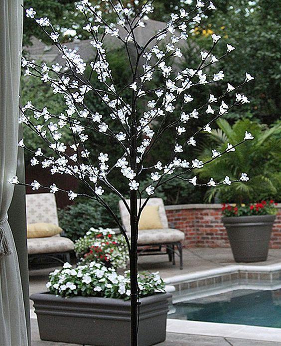 Warm White Led Cherry Tree 240 Acrylic Flowers 6 5 Feet
