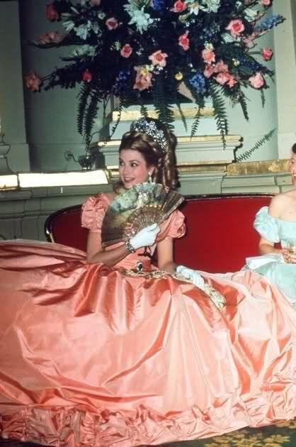 Princess Grace at Monaco's Centenary Ball, 1966.