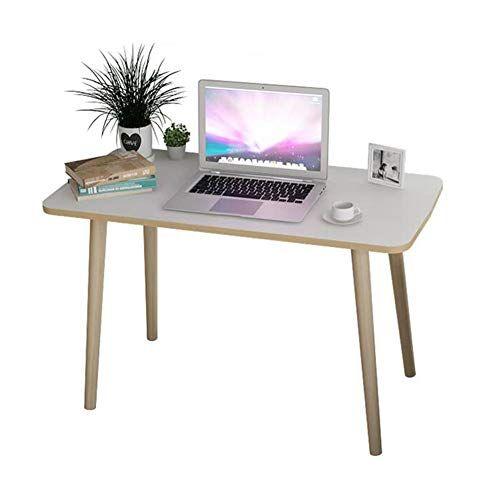 Cjc Table Furniture Wood Computer Desk Mdf Desktop Solid Beech Legs Supports Laptops Multifunc Solid Wood Office Desk Minimalist Office Desk Solid Wood Desk