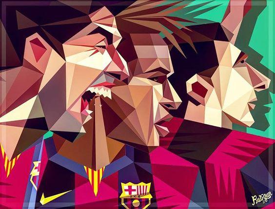 Instagram media by robgunillustration - MSN is going crazy tonight! 🔥  #Messi #Suarez #Neymar #Art #Barca #Barcelona #futbolsport #sbspotlight #soccerbible  #Helpmetag